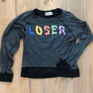 Wildfox Loser Distressed Jumper
